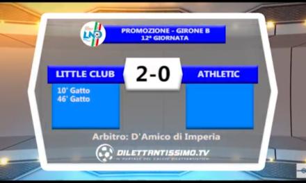 VIDEO: LITTLE CLUB-ATHLETIC 2-0. Promozione B 12ª Giornata