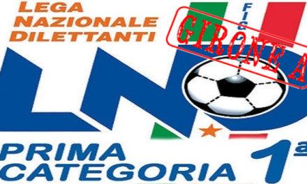 DIRETTA LIVE Prima Categoria Girone A – 15^ giornata: tutte le formazioni, i marcatori e la classifica