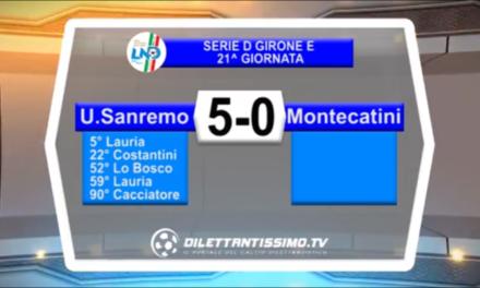 VIDEO: SANREMESE-MONTECATINI 5-0. Serie D Girone E
