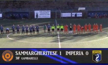 VIDEOSINTESI: SAMMARGHERITESE-IMPERIA 1-0. Eccellenza 17ª Giornata