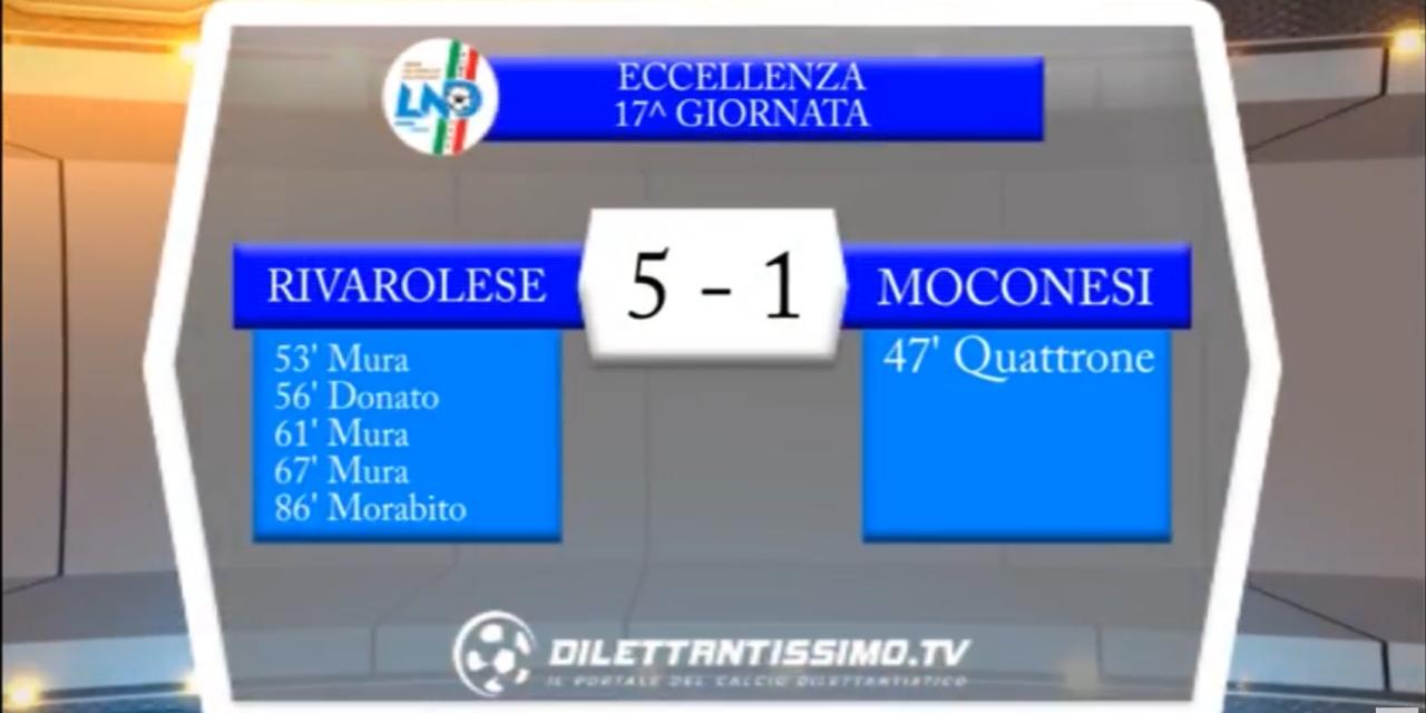 VIDEO – Eccellenza 17a giornata: Gli highlights di Rivarolese-Moconesi 5-1
