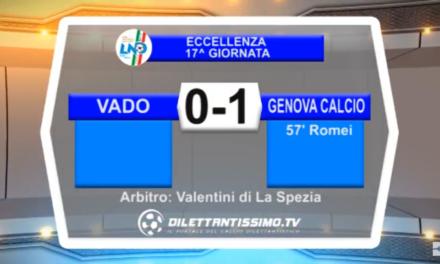 VIDEO – Eccellenza 17a giornata: Gli highlights della supersfida Vado-Genova Calcio 0-1