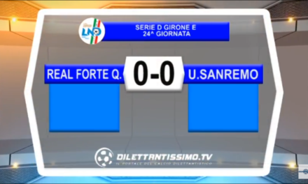 VIDEO SERIE D Girone E: Real Forte Querceta-Sanremese 0-0.