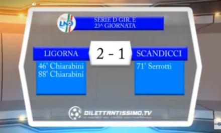 VIDEO, LIGORNA – SCANDICCI 2-1, Serie D Girone E, 23^ giornata