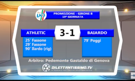 VIDEO: ATHLETIC-A.BAIARDO 3-1. Promozione B