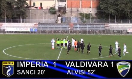 VIDEO, IMPERIA-VALDIVARA 1-1, Eccellenza 19ª Giornata