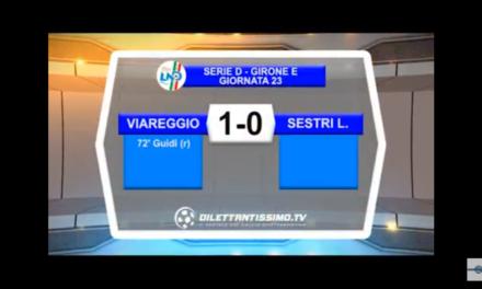VIDEO, VIAREGGIO – SESTRI LEVANTE 1-0, Serie D Girone E, 23^ giornata