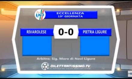 VIDEO – Eccellenza 19a giornata: Gli highlights di Rivarolese-Pietra Ligure 0-0