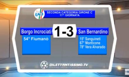 VIDEO: BORGO INCROCIATI-S.BERNARDINO SOLFERINO 1-3 Seconda C