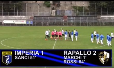 VIDEO: IMPERIA – RAPALLO 1-2. Eccellenza 21^ Giornata
