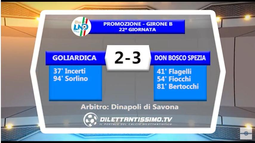 VIDEO – Promozione B: Gli highlights di Goliardica-Don Bosco Spezia 2-3