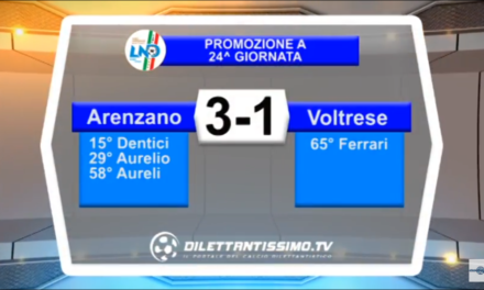 ARENZANO-VOLTRESE 3-1. Promozione Girone A 23^ giornata stagione 2017/2018