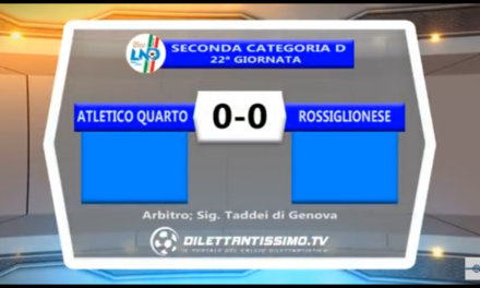 VIDEO: Atletico Quarto-Rossiglionese 0-0 + Interviste