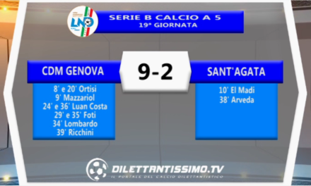 VIDEO – Gli highlights di Cdm Genova-Sant'Agata 9-2