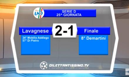 VIDEO – Serie D 25^ giornata: Gli highlights di Lavagnese-Finale 2-1