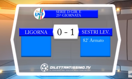 VIDEO – Serie D 25^ giornata: Gli highlights di Ligorna-Sestri Levante 0-1
