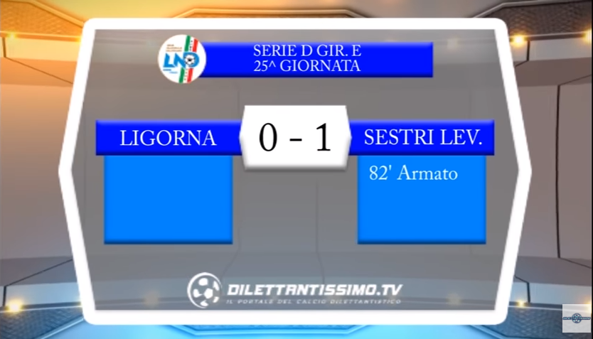 VIDEO – Serie D 25^ giornata: Gli highlights di Ligorna-Sestri Levante 0-1