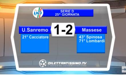 VIDEO – Serie D: Gli highlights di Sanremese – Massese 1-2