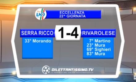 VIDEO – Eccellenza: Gli highlights di Serra Riccò-Rivarolese 1-4