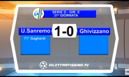 VIDEO: SANREMESE-GHIVIZZANO 1-0. Serie D Girone E