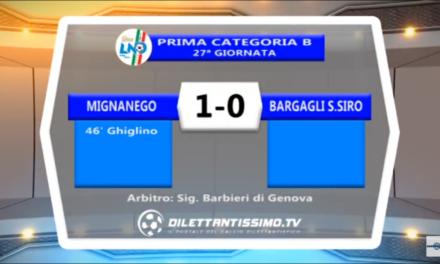 VIDEO: MIGNANEGO-BARGAGLI S.SIRO 1-0