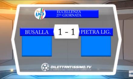VIDEO: BUSALLA -PIETRA LIGURE 1-1. Eccellenza 27ª giornata