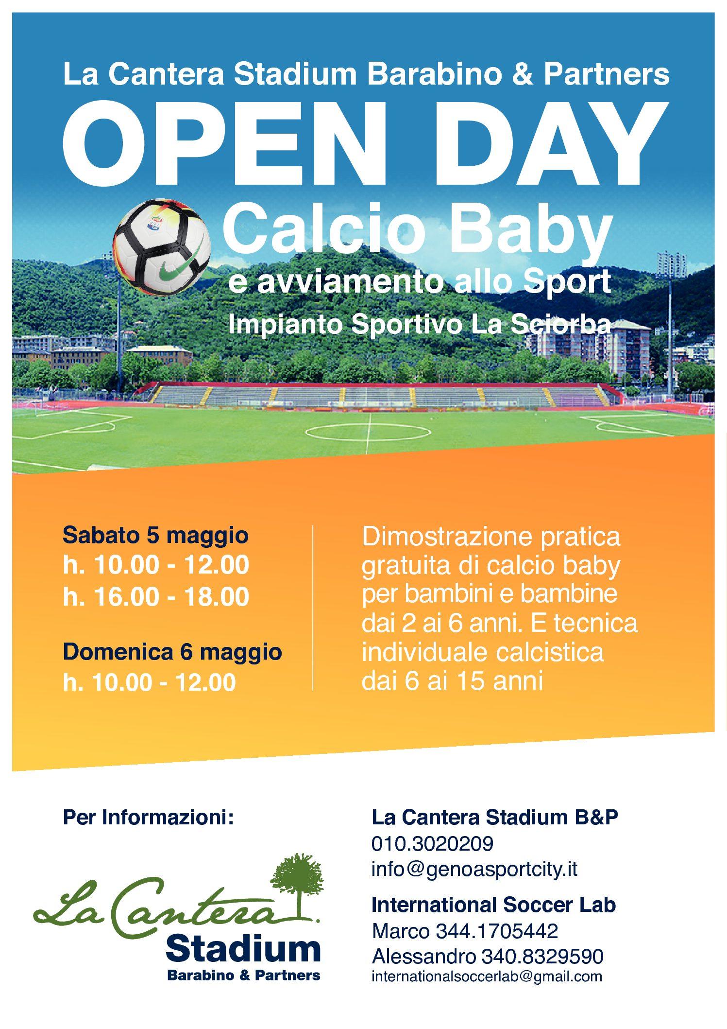 GENOA SPORTCITY: Open Day di calcio baby e avviamento allo sport per bambini e bambine dai 2 anni in su.