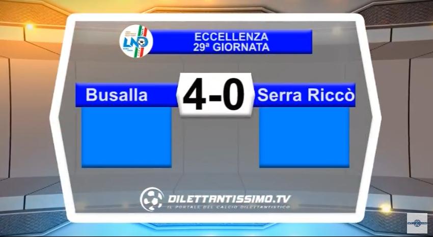 VIDEO – Eccellenza: Gli highlights di Busalla-Serra Riccò 4-0