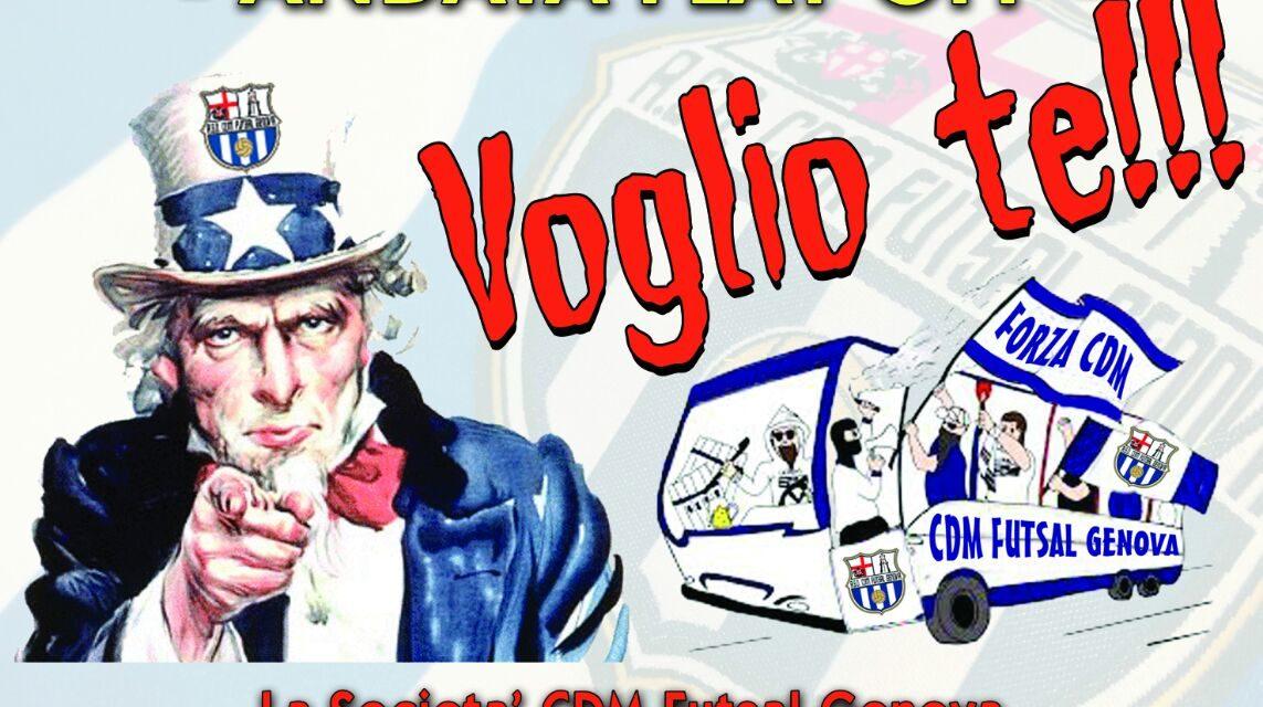 Oggi l'ultima in casa del Bagnolo ma la Cdm Genova chiama già a raccolta i propri tifosi in vista dei playoff