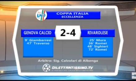 VIDEO: GENOVA CALCIO-RIVAROLESE 2-4. Sintesi