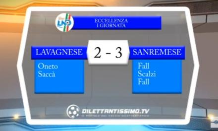 VIDEO – Serie D Girone A: Gli highlights di Lavagnese-Sanremese 2-3