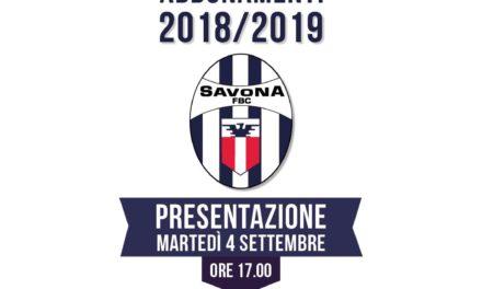 Savona, domani la presentazione della campagna abbonamenti