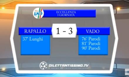 VIDEO – Eccellenza: Gli highlights di Rapallo – Vado 1-3