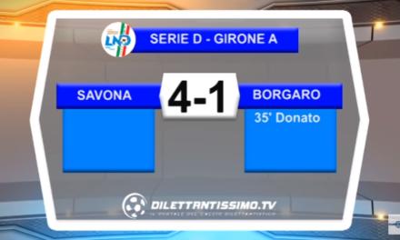 VIDEO – Serie D Girone A: Gli highlights di Savona – Borgaro Nobis 4-1