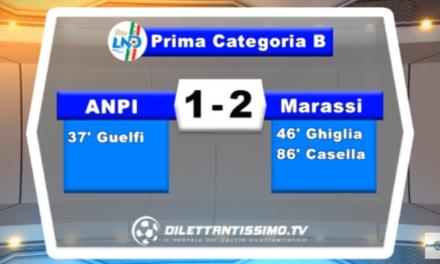 VIDEO – SERVIZIO TV PRIMA CATEGORIA B. Colpaccio Marassi in casa delll'Anpi: finisce 2-1