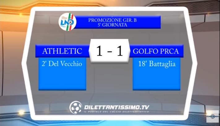VIDEO – PROMOZIONE B: Il servizio Tv di Athletic Club-Golfo Paradiso 1-1