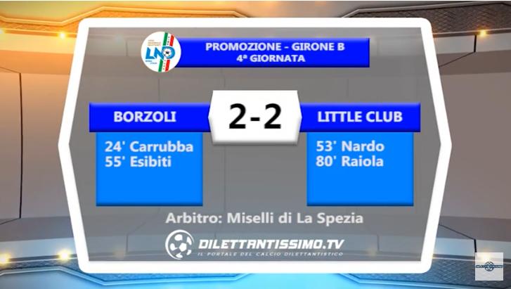 """VIDEO – SERVIZIO TV PROMOZIONE B. Botta e risposta fra Borzoli e Little Club: al """"Piccardo"""" finisce 2-2"""