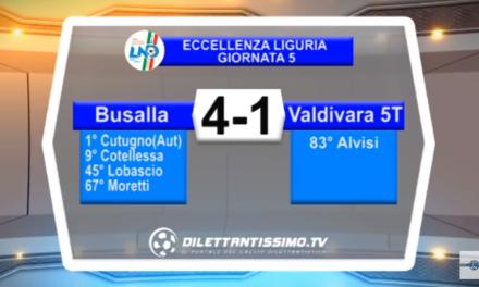 VIDEO – Eccellenza: Il servizio Tv di Busalla -Valdivara 5 Terre 4-1