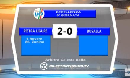 VIDEO – ECCELLENZA: Il servizio di Pietra Ligure-Busalla 2-0