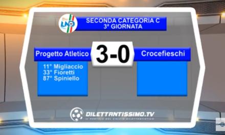 VIDEO – SERVIZIO TV SECONDA CATEGORIA. Vola il Progetto Atletico: 3-0 al Crocefieschi e primato confermato