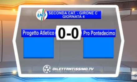 VIDEO – SECONDA C: Il servizio Tv di Progetto Atletico – Pro Pontedecimo 0-0