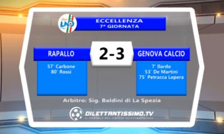 VIDEO – Eccellenza: Il servizio di Rapallo – Genova Calcio 2-3