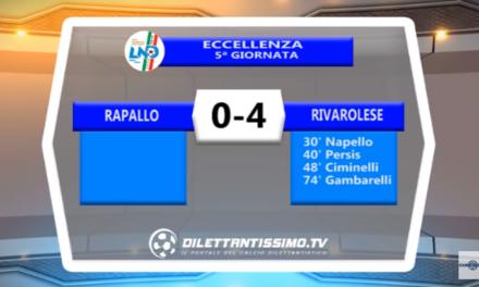 VIDEO – ECCELLENZA: Il servizio Tv di Rapallo-Rivarolese 0-4