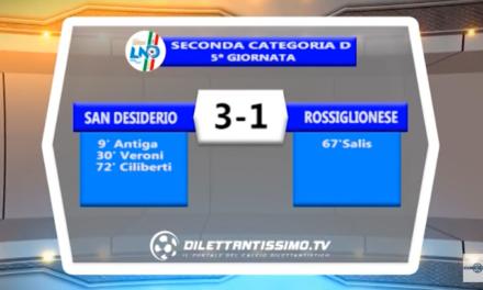 VIDEO – SECONDA D: Il servizio di San Desiderio-Rossiglionese 3-1