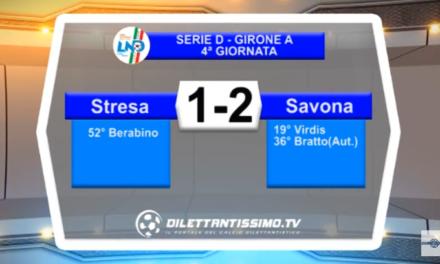 VIDEO – SERVIZIO TV SERIE D. Colpo esterno del Savona: contro lo Stresa finisce 2-1