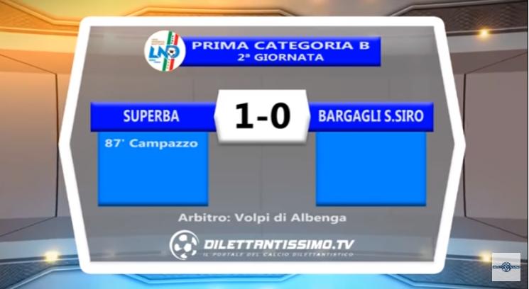 VIDEO – PRIMA B: Primo acuto per la Superba: 1-0 al Bargagli San Siro