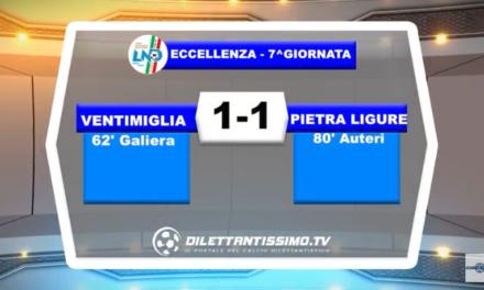 VIDEO – Eccellenza: Il servizio di Ventimiglia-Pietra Ligure 1-1
