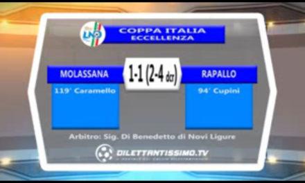 VIDEO: RAPALLO MOLASSANA 4-2 dcr. Semifinale COPPA ITALIA ECCELLENZA