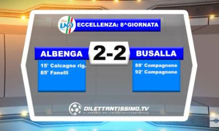 VIDEO – ECCELLENZA: Il servizio di Albenga-Busalla 2-2