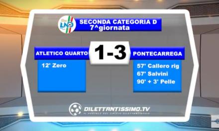 VIDEO – SECONDA D: Il servizio di Atletico Quarto-Pontecarrega 1-3
